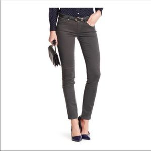 AG the stilt cigarette leg jeans pants dark gray